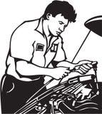 Auto Mechanic. Line Art Illustration of an Auto Mechanic vector illustration