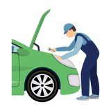 Auto mechanic and adjustment single icon in cartoon style for design.Car maintenance station vector symbol stock. Illustration Stock Image