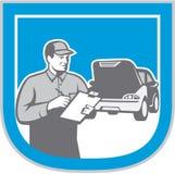 Auto Mechanic Automobile Car Repair Check Retro Stock Image