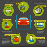 Auto Mechanic Infographics Stock Photo