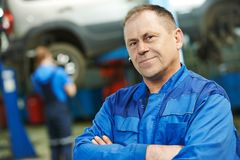 Auto mechanic portrait Stock Photos