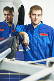 Auto mechanic portrait Stock Images