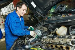 Auto mechanic repair turbine stock photos