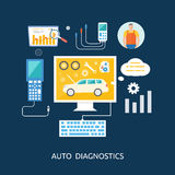 Auto mechanic service flat icons of maintenance Stock Photos