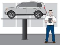 Auto Mechanic With SUV Stock Image