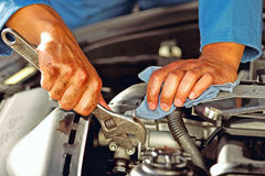 auto mechanic working Royalty Free Stock Image
