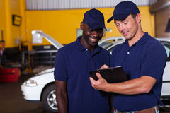 Auto mechanics checklist Royalty Free Stock Photos