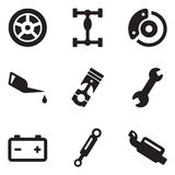 Auto-Mechaniker Icons Lizenzfreie Stockbilder