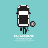 Auto-Mechaniker Repairing Under Automobile Stockfoto