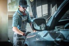 Auto Mechanisch Fixing Vehicle stock foto