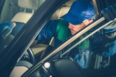 Auto Mechanisch Fixing Vehicle stock foto's