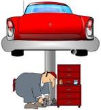 auto mekaniker royaltyfri illustrationer