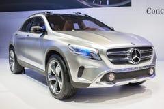 Auto Mercedes-Benz Concepts GLA auf Anzeige an der 30. internationalen Bewegungsausstellung Thailands am 3. Dezember 2013 in Bangk lizenzfreies stockbild