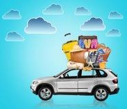 Auto met bagage royalty-vrije stock fotografie