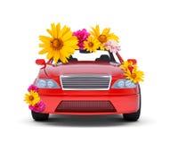 Auto met bloemen Royalty-vrije Stock Foto