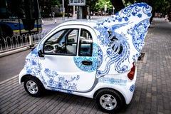 Auto met engelenvleugels Royalty-vrije Stock Afbeeldingen