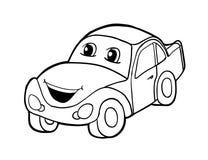 Auto met glimlach Royalty-vrije Stock Afbeelding