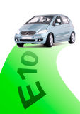 Auto met groene weg royalty-vrije stock fotografie