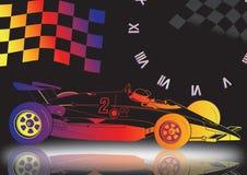 auto met vlag Royalty-vrije Stock Afbeeldingen