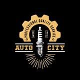 AUTO miasto logo Ilustracja Wektor
