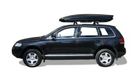 Auto mit Dachkasten Stockbild