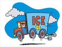 Auto mit Eis Stockfoto