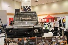 Auto mit 007 Filmen Lizenzfreie Stockfotos