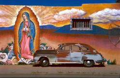Auto mit Guadalupe Lizenzfreie Stockfotos
