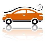 Auto mit Luftturbulenzikone Stockbilder