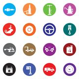 Auto Mobile Icon Set Royalty Free Stock Photos