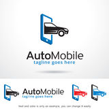 Auto Mobile Logo Template Design Vector Stock Image