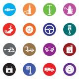 Auto Mobilny ikona set Zdjęcia Royalty Free