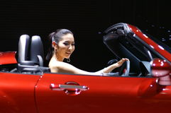 auto model show Arkivfoto