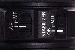 Auto modos do foco e do estabilizador Fotografia de Stock Royalty Free