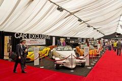 Auto mostra dos carros luxuosos imagens de stock