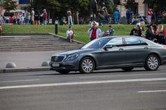 Auto in motie royalty-vrije stock foto