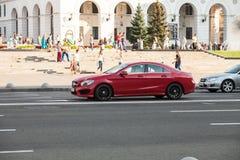Auto in motie royalty-vrije stock foto's