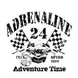 auto, motor het rennen patroon, grafische t-shirt royalty-vrije illustratie