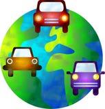 Auto mundo ilustração royalty free