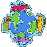 Auto mundo Imagem de Stock Royalty Free