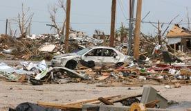 Auto nach Tornado Stockfoto
