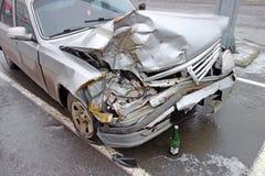 Auto nach Unfall Lizenzfreie Stockfotografie