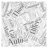 Auto Navigation Devices Offer Many Installation Options word cloud concept vector background Royalty Free Stock Photography