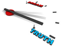 Truth vs dreams Royalty Free Stock Images