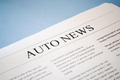 Auto news Royalty Free Stock Images