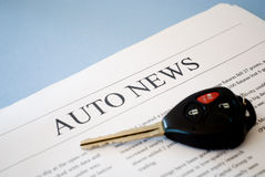 Auto news Royalty Free Stock Photo