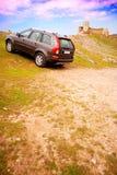 Auto nicht für den Straßenverkehr - Schloss stockfotos