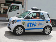 Auto NYPD Smart Stockfotografie