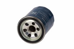 Auto oil filter. On white background with clipping path Stock Images