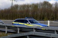 Auto olycka på den Germnay motorwayen Royaltyfria Foton